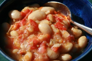 Tomatoey Butter Bean Pot