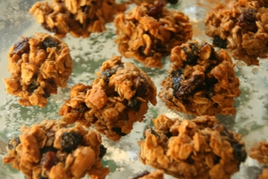 Moist and delicious oatmeal blueberry cashew vegan cookies