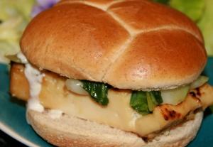 Nobu style saikyo miso tofu sandwich