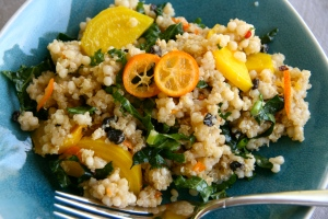 Israeli couscous salad with cumin orange vinaigrette